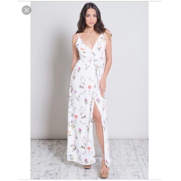 Oh My Love Dresses Wrap Maxi Dress Poshmark